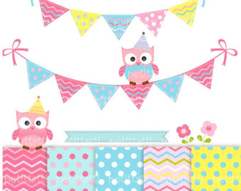 Owl clipart bunting Clip clip Bunting bunting clip