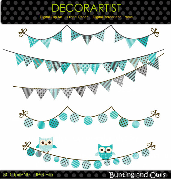 Owl clipart bunting Banners and banner and Clipart