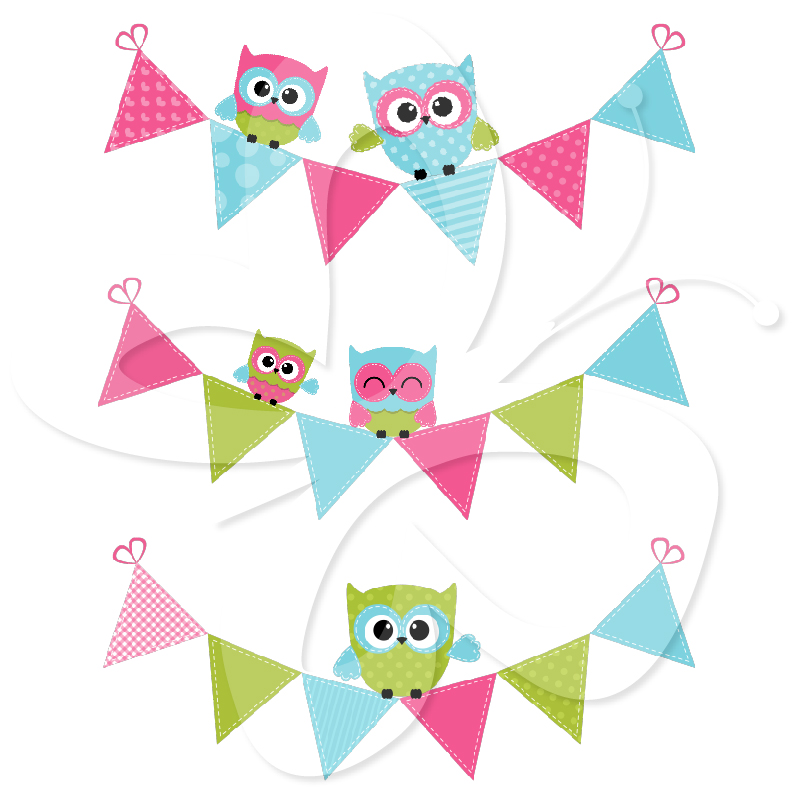 Owl clipart bunting Clipart Clipart Free pastel%20bunting%20clipart Panda