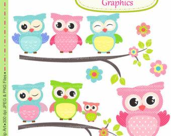 Owl clipart butterfly ; by art art art