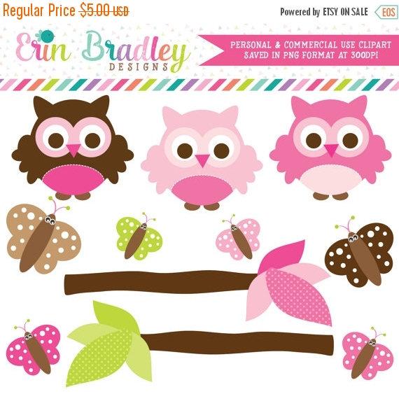Owl clipart butterfly  Pink Butterflies OFF Clipart