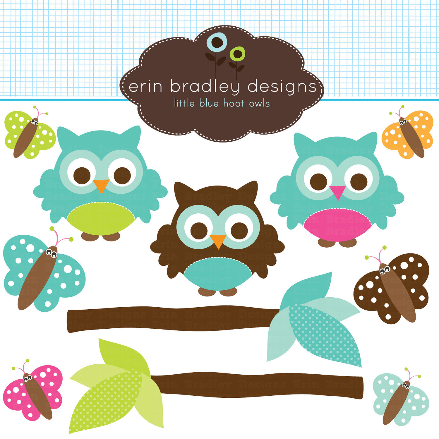 Owl clipart butterfly Owl Brown Personal & Use