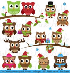 Owl clipart cowboy Clip Clipart and Commercial Winter
