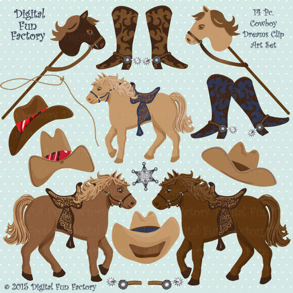 Owl clipart cowboy Clip Cowboy Cowboy cute Horse