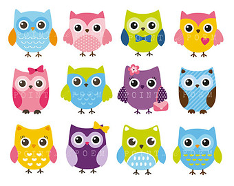 Owl clipart cute Commercial Clip whimsical Owl sweet