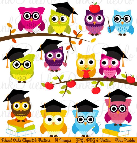 Creative clipart owl Clipart Owl & Back Owl