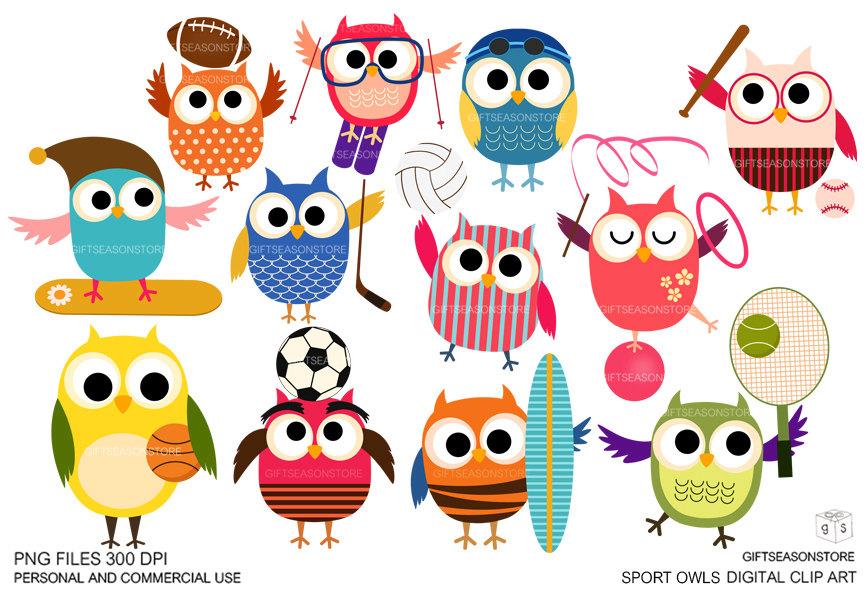 Football clipart owls Sport owls clip art 1
