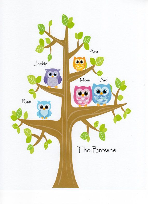 Owlet clipart family tree On Decor Owl Baby by