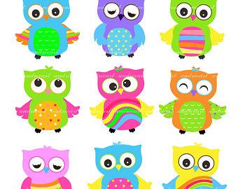 Owl clipart fancy PATTERN Art Baby OWLS Art: