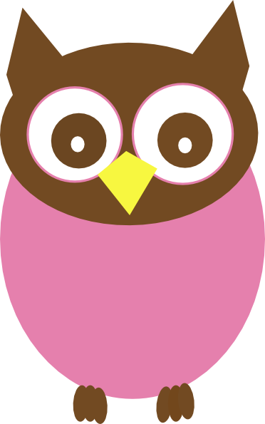 Owlet clipart pink and brown Pink Clip Free Clipart