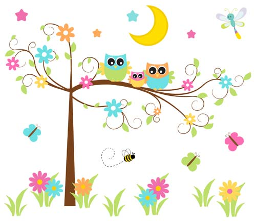 Owl clipart fancy Tree Swing Tree Murals DeCamp