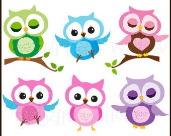 Owl clipart fancy Cute OWLS