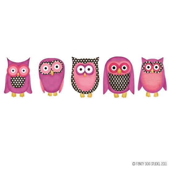Owl clipart fancy Digital Elements Characters Free Scrapbook