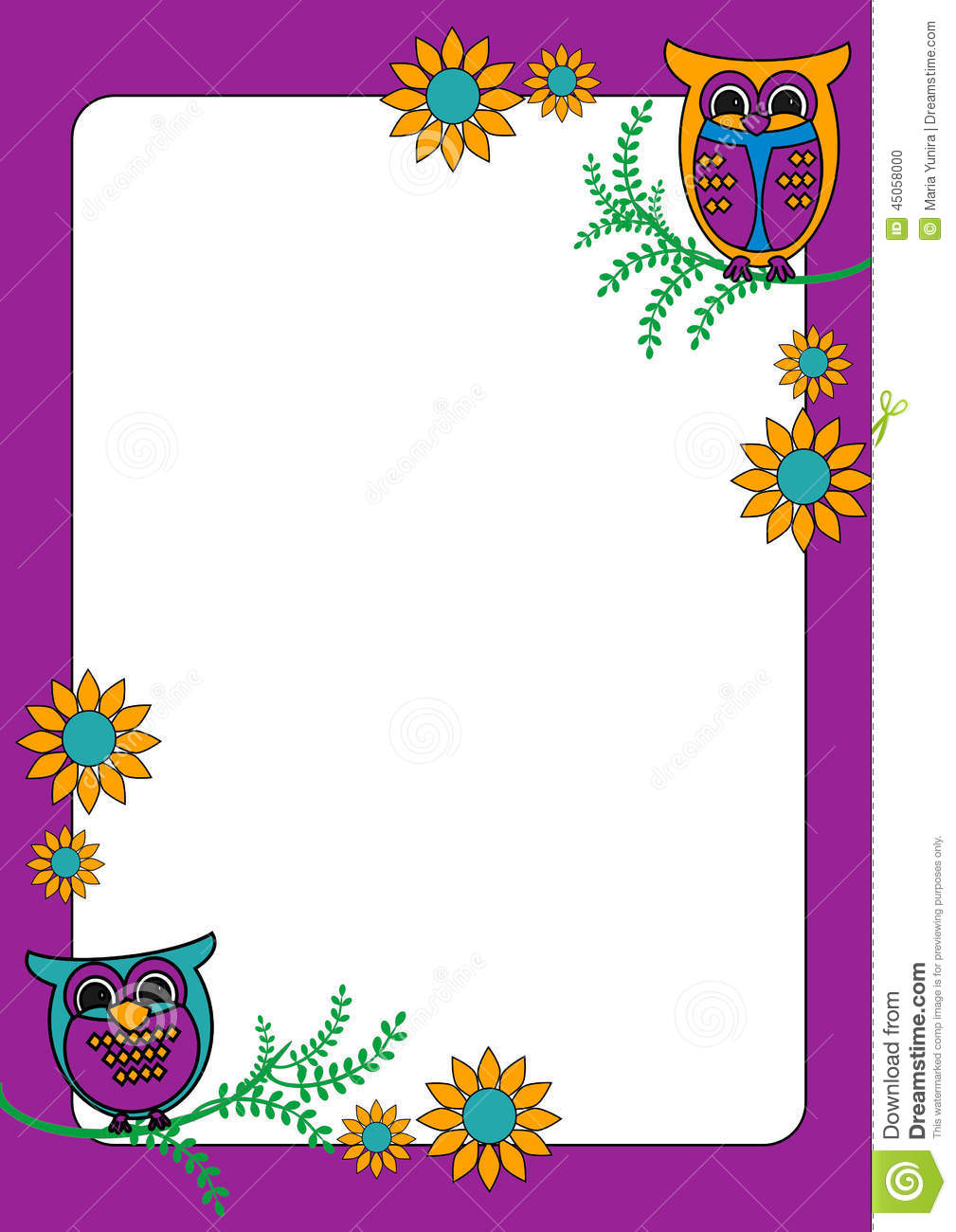 Owl clipart frame Search Google Search frame