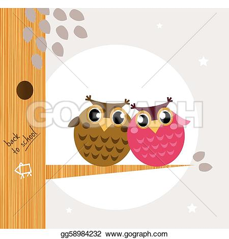Owl clipart friend The owl cute branch the