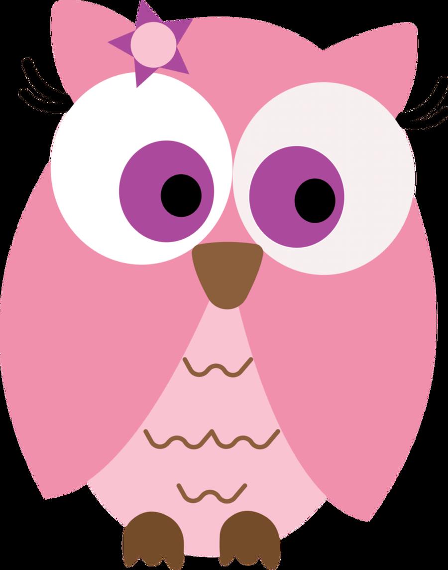 Brown Hawk Owl clipart cute cartoon Cute  Girly Owls Clipart