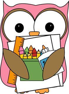 Owlet clipart classroom Owl a sitting ruler Pinterest