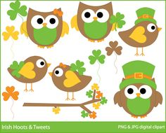 Owl clipart march Patricks day for GET 2