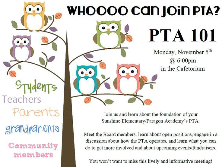 Owl clipart meeting Welcoming! The best meeting PTA