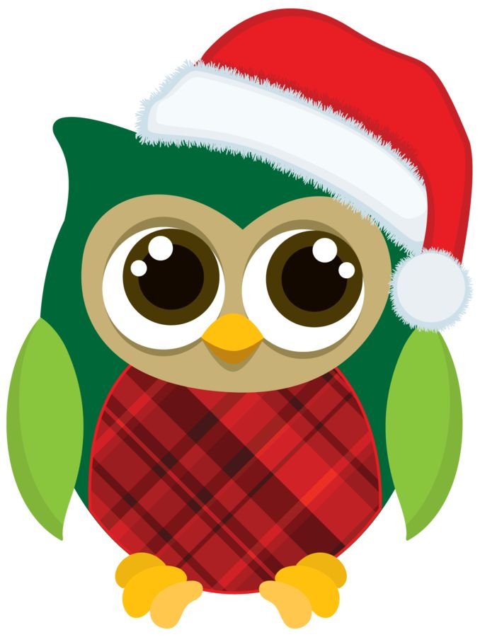 Owl clipart merry christmas Images Christmas Owls Owls best
