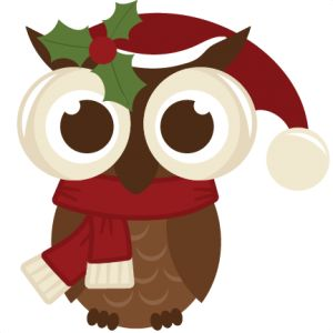Owl clipart merry christmas Pinterest 132 Christmas Owl the