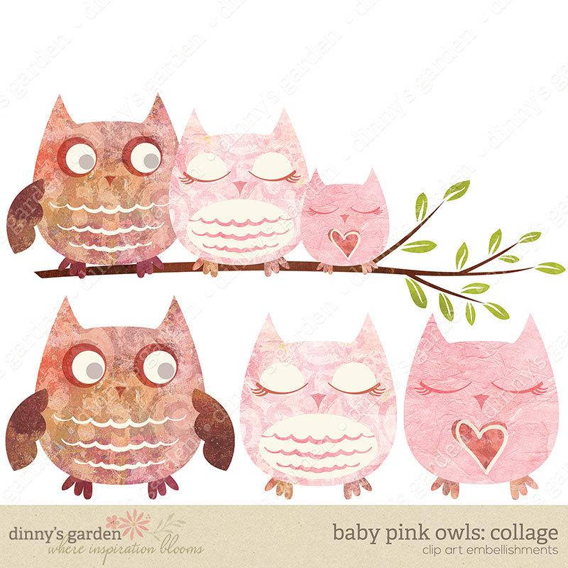 Owl clipart mom Clip Digital dad Mom PINK
