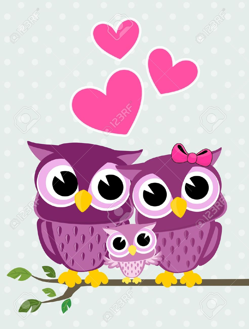 Owl clipart mom And Branch Clipart Owl Dad