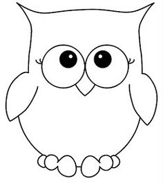 Owlet clipart black and white Tattoos outline Outline Owl Printable