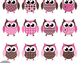 Owlet clipart pink and brown Cliparts Cute clipart Zone brown