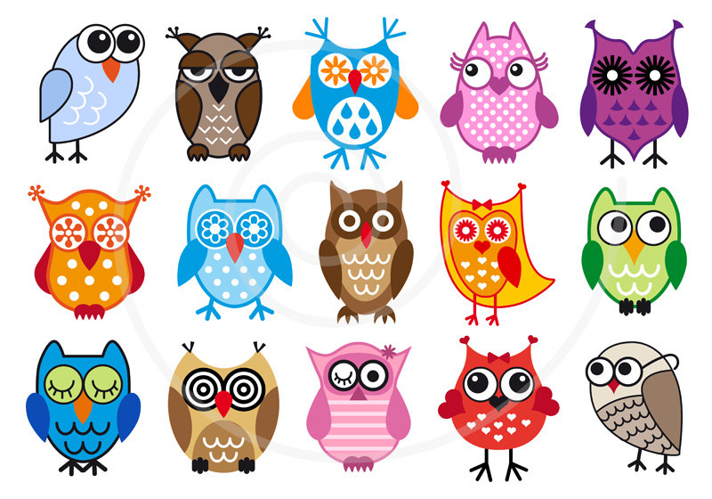 Football clipart owls Owl use kids Cute Woodland