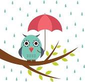 Owl clipart rain Rain Graphics Clip Owl Owl