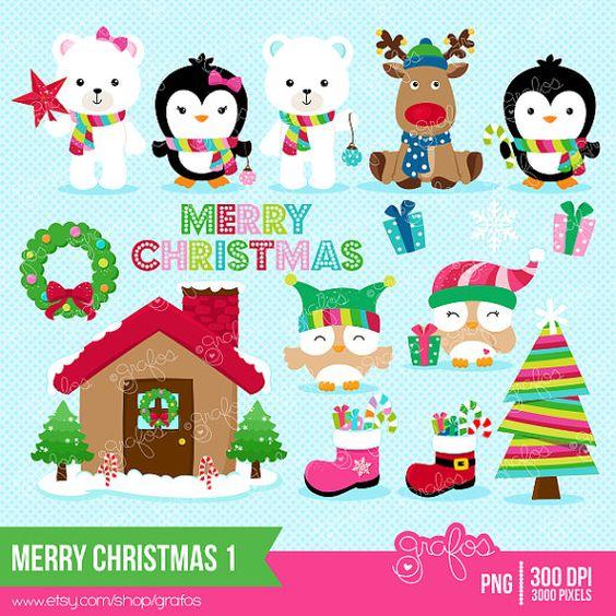 Penguin clipart reindeer Reindeer  Christmas Clipart Christmas
