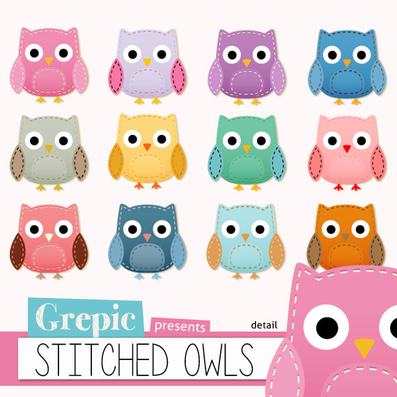 Owl clipart round Tribal paper: digital clip patterns
