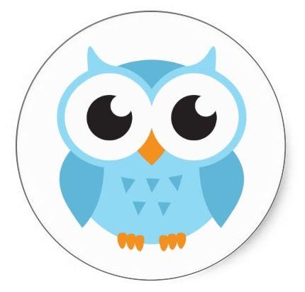 Owl clipart round Best stickers Cartoon owl Pinterest
