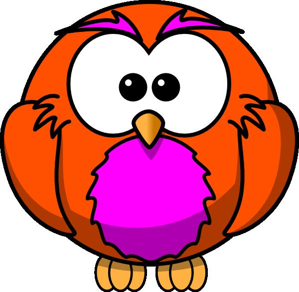 Owl clipart round Art And com Orange art