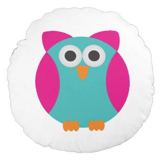 Owl clipart round Decorative pillow Pillows round pink
