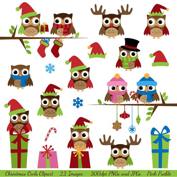 Owlet clipart disney 132 Christmas on Owls with