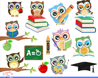 Bird clipart school Clipart Etsy School to clipart