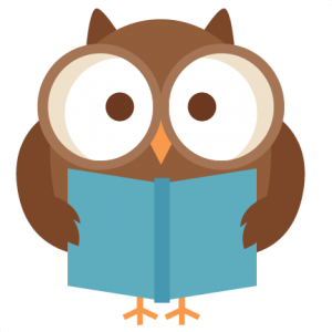 Owl clipart september Adorable Reading Kate the card