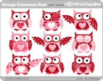 Owl clipart shabby chic Funky and Digital Art Commercial