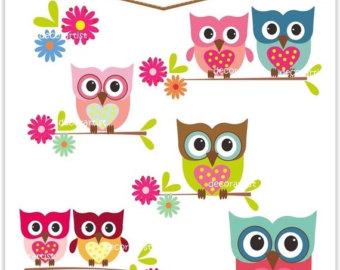 Owl clipart shabby chic Hot balloon Clipart Hot ON