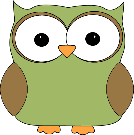 Simple clipart owl Owl green print Clip coloring