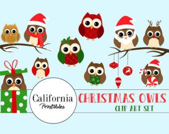 Owl clipart snowman Christmas clipart Owl 22 ClipArt