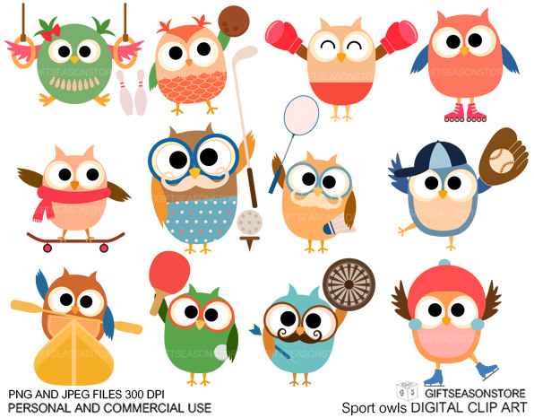 Sport clipart cute Commercial Digital Sports clip and