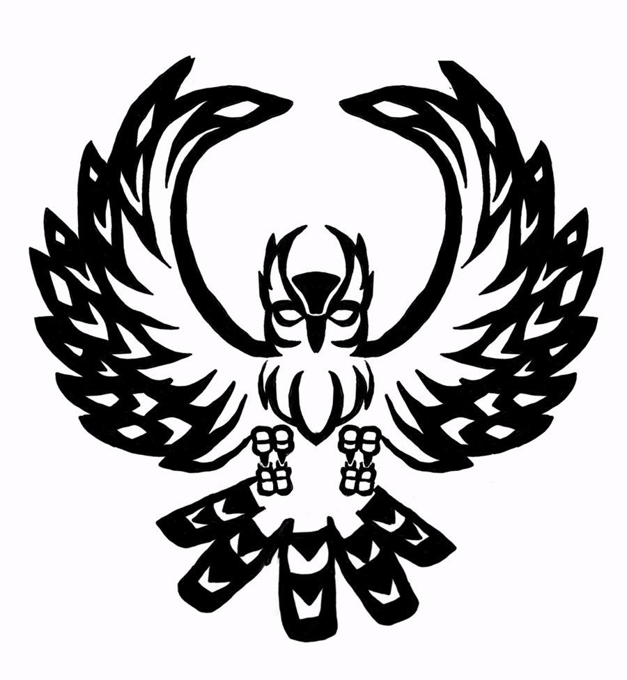 Drawn owl tribal #3