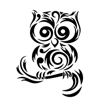 Owl clipart tribal Amazon Silhouette Decal Vinyl Car
