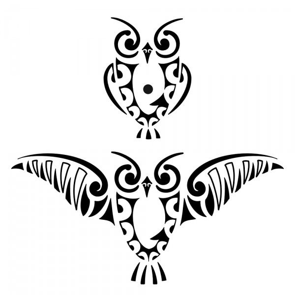 Drawn owl tribal #1
