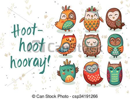 Owl clipart tribal Owl hoot  tribal Owl