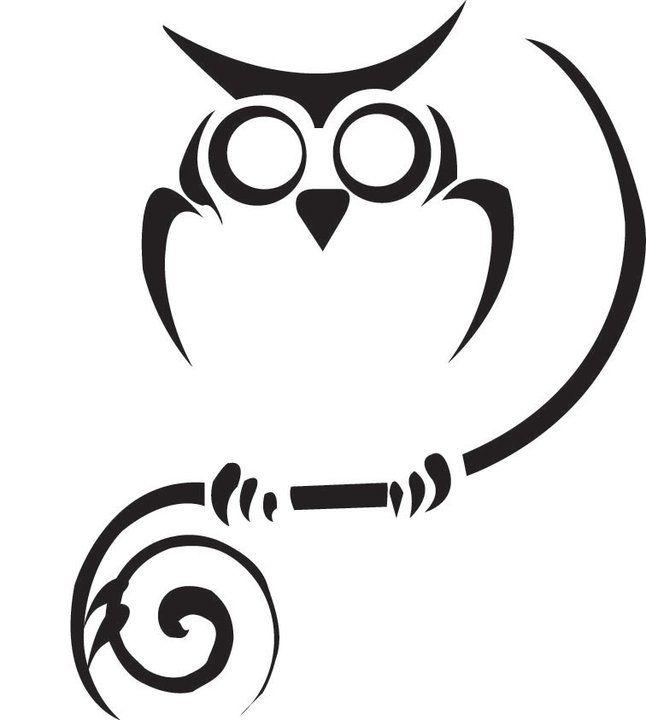 Owl clipart tribal Search owl tribal tattoo Google