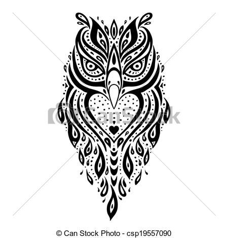 Owl clipart tribal Owl  Owl Decorative of